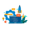 coding programming application development vector image