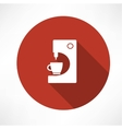 coffee machine with cup icon vector image
