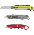 colour cutter knifes vector image