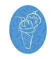 cute sketchy ice cream cartoon vector image vector image