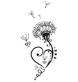 Dandelion with hearts vector image vector image