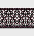 diamond jewellery border pattern on white vector image