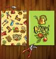 doodle icons garden vector image