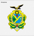 emblem of amazonas state of brazil vector image vector image