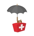 First aid kit under umbrella icon cartoon style vector image vector image
