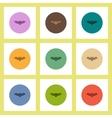 flat icons Halloween set of Vampire Bat concept on vector image vector image