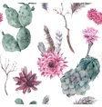Floral seamless pattern with branches and vector image