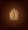 food and drink restaurant menu design vector image vector image