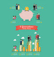 four generation saving money collection vector image vector image