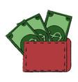 full cash wallet vector image vector image