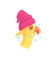 funny llama character in pink hat cute alpaca vector image vector image