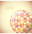 Globe with hexagon signs vector image