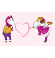 goat sheep valentine vector image