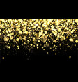 gold blurred border on black background vector image vector image