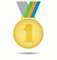 gold medal winner isolated on white vector image