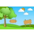 green landscape of paper vector image