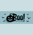 halloween banner with ghost pumpkin and flying vector image vector image