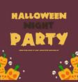 halloween night party banner pumpskin vector image vector image