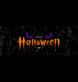 happy halloween orange message with spooky vector image vector image