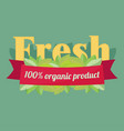 label elements for organic food and drink organic vector image vector image