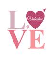 love arrow word pastel vector image