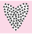 lovely seamless background pattern with hearts vector image vector image