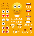 male emoji mouth animation design elements vector image