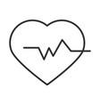 medical heartbeat pulse rhythm line icon vector image vector image