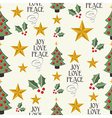 Merry Christmas icons tree seamless pattern vector image vector image