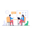 new worker interview concept vector image