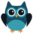 owl blue vector image vector image