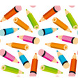 pattern with little colorful pencils vector image vector image