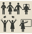 People science education icons vector image vector image