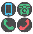 Pixel phone icons vector image vector image
