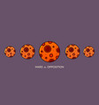 planet mars in opposition vector image vector image
