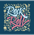 print for a rock and roll t-shirt on a closely vector image vector image