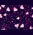 romantic seamless pattern love background vector image vector image
