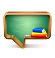 School Books and Blackboard vector image vector image