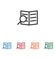 search document icon vector image vector image