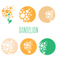 Set of concept abstract logo dandelions vector image vector image