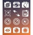 Set Photo Logo vector image vector image