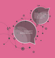 speech bubbles with abstract lines and dots vector image