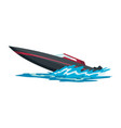 speed motorboat sea or river vehicle sport vector image vector image