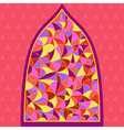 stained glass window with different type of color vector image