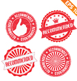 Stamp sticker recommended collection - - EP vector image vector image