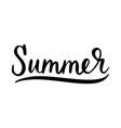 summer inscription brush vector image vector image