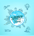 summer travel linear style concept vector image
