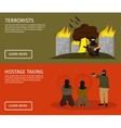 Terrorism Flat Banner Set vector image vector image