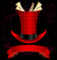 top hat and fanfare vector image vector image