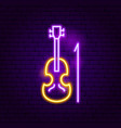 violin neon sign vector image